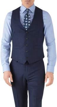 Charles Tyrwhitt Royal Blue Adjustable Fit Flannel Business Suit Wool Vest Size w36