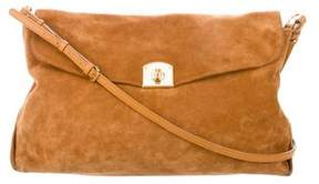Sergio Rossi Suede Shoulder Bag