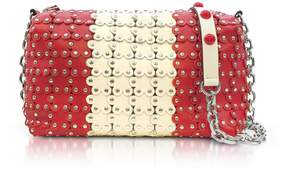 RED Valentino Strawberry/ivory Studded Leather Shoulder Bag