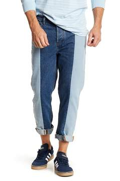 Barney Cools B.Relaxed Colorblock Fray Hem Straight Leg Jeans