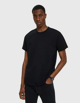Reigning Champ Terry Cut-Off SS Crew in Black
