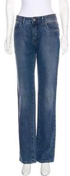 Trussardi Mid-Rise Straight-Leg Jeans w/ Tags