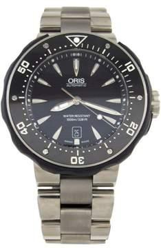 Oris ProDiver 01 733 7646 7154 Date Titanium Black Dial 49mm Mens Watch