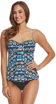 Fit 4 U Fit4U Washed Away Waterfall Bandeau Tankini Top 8155884