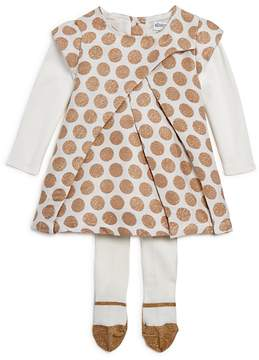 Absorba Girls' Polka-Dotted Dress & Tights Set - Baby