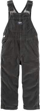 Osh Kosh Toddler Boy Jersey-Lined Black Corduroy Overalls