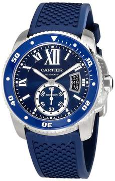 Cartier Calibre Diver Automatic Blue Dial Men's Watch