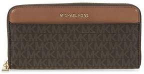 Michael Kors Mercer Signature Logo Wallet - Brown - ONE COLOR - STYLE