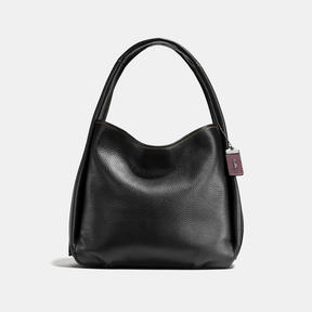 COACH BANDIT HOBO IN NATURAL PEBBLE LEATHER - BLACK COPPER/BLACK