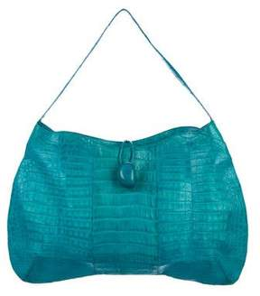 Nancy Gonzalez Crocodile Toggle Shoulder Bag