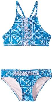 Roxy Girl's Sunny Dreams Crop Top Bikini Set (26) - 8160334