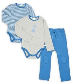 Petit Lem Baby's Three-Piece Bodysuit & Pants Set
