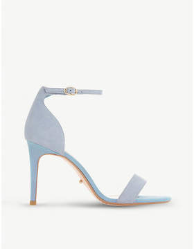Dune Mortimer two-tone suede heeled sandals