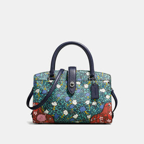 Coach Mercer Satchel 24 With Multi Floral Print