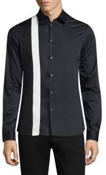 Diesel Black Gold Colorblocked Button-Down Shirt