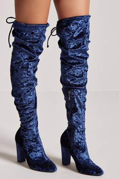 Forever 21 Velvet Over-the-Knee Boots