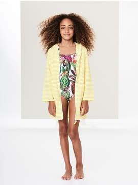 Oscar de la Renta Kids Kids | Lemon Terry Hooded Cover-Up | 8 years | Yellow