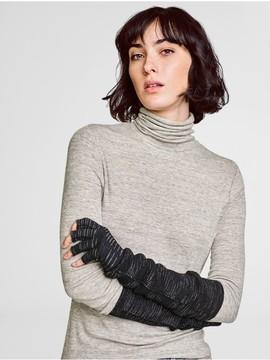 White + Warren Spacedye Cashmere Plush Fingerless Glove