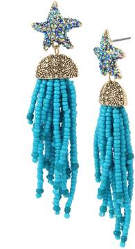 Betsey Johnson CRABBY COUTURE STARFISH TASSEL EARRINGS