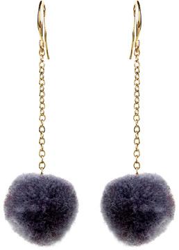 Amrita Singh Gray & Goldtone Pom-Pom Drop Earrings