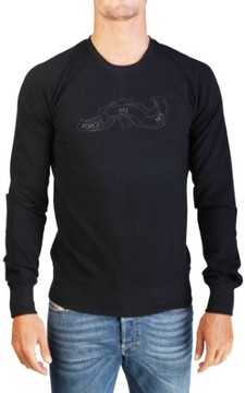 Christian Dior Men's 'Forget Me Not' Lightweight Cotton Crewneck Sweatshirt Black