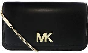 Michael Kors Women's Large Mott Soft Box Leather Clutch - Black - BLACK - STYLE