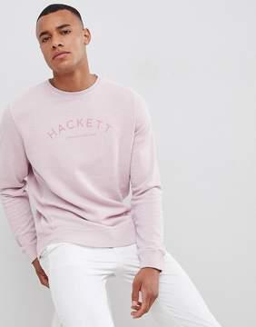 Hackett Mr. Classic Logo Crew Neck Sweat in Pink