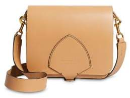 Burberry Square Leather Satchel - CAMEL - STYLE