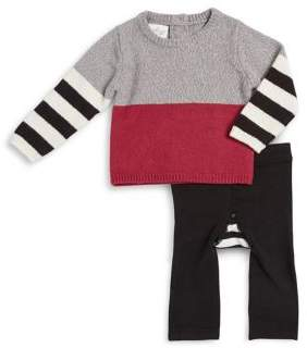 Cuddl Duds Baby Boy's Two-Piece Color Block Top and Pants Set