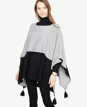 Ann Taylor Colorblock Cape