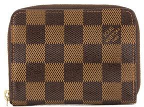 Louis Vuitton Damier Ebene Canvas Zippy Coin Purse - BROWN - STYLE