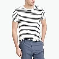 J.Crew Factory J.Crew Mercantile slim Broken-in deck-striped T-shirt