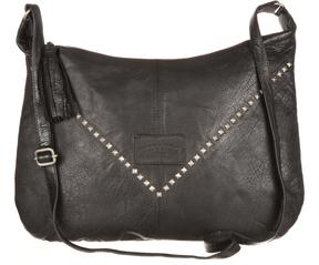 Black Stud Leather Shoulder Bag