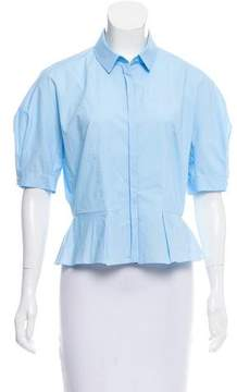 DELPOZO Short Sleeve Button-Up Top w/ Tags