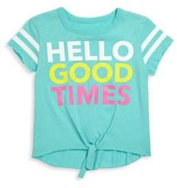 Chaser Toddler's, Little Girl's & Girl's Hello Good Times Jersey Tee