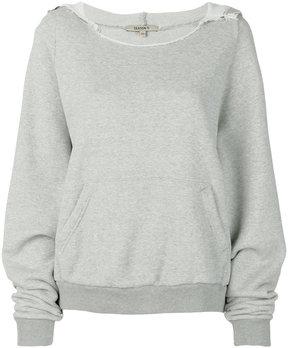 Yeezy rib neck hoodie