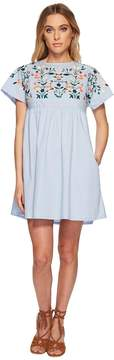 J.o.a. Kimino Style Dress with Lace-Up Back Detail Women's Dress
