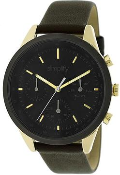 Simplify The 3800 Collection SIM3803 Unisex Watch with Leather Strap