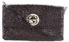 Kate Spade Glitter Flap Crossbody Bag - BLACK - STYLE