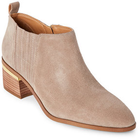 Franco Sarto Taupe Aberdale Pointed Toe Ankle Booties