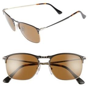 Persol Men's Evolution 55Mm Polarized Aviator Sunglasses - Matte Black