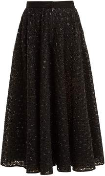 Ashish High-rise embellished broderie-anglaise skirt