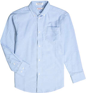 Izod Blue Hanging Oxford Button-Up - Boys