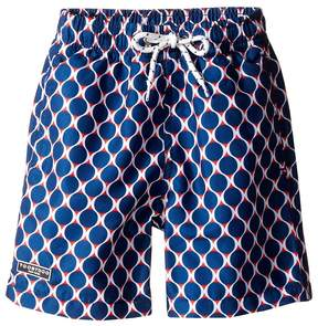 Toobydoo Navy and Red Swim Shorts (Infant/Toddler/Little Kids/Big Kids)
