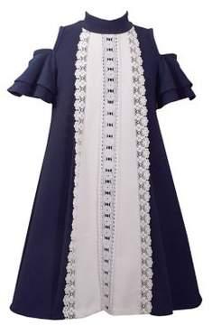 Iris & Ivy Little Girl's Crochet Cold-Shoulder Dress