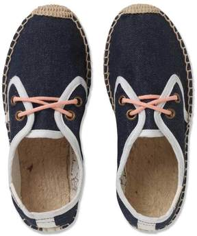 Marie Chantal Boys Soludos Derby Espadrilles with Lace - Denim/Coral