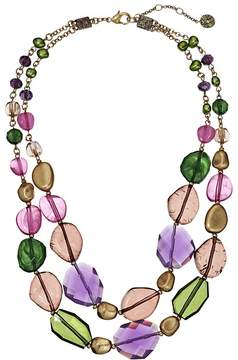 The Sak Two Row Beaded 18 Necklace Necklace