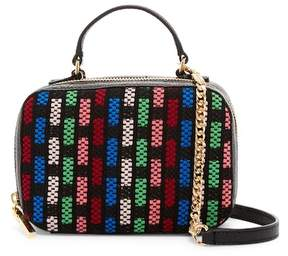 Milly Tweed & Leather Mini Satchel