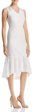 Adrianna Papell Cynthia Lace Flounce Sheath Dress