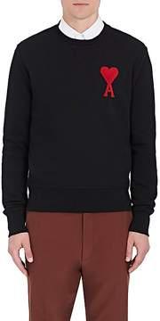 Ami Alexandre Mattiussi Men's Heart-Appliquéd Cotton Terry Sweatshirt